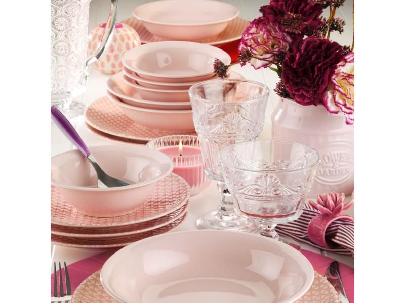 Сервиз за хранене от нано керамика - SPRING розов