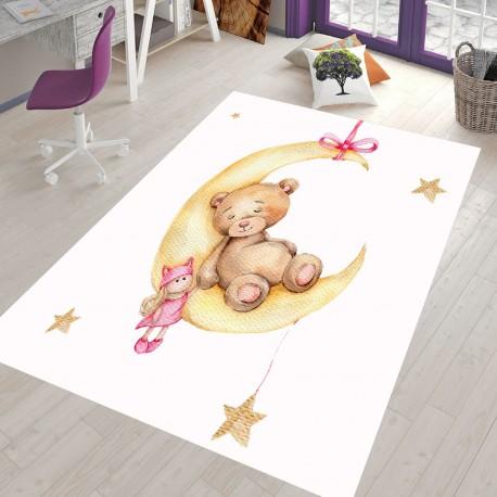 Детски килим 160 х 230 см. Мече с луна
