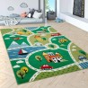 Детски килим за игри 160x220 cm. STREET зелен