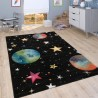 Детски килим за игри 160x230 cm. PLANET STARS черен