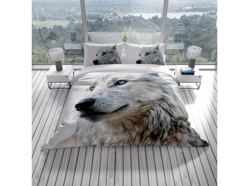Спален комплект 3D от памучен сатен WOLF