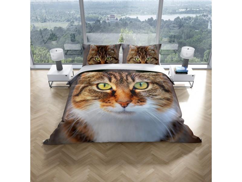 Спален комплект 3D от памучен сатен CAT