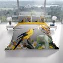 Спален комплект 3D от памучен сатен YELLOW PARROT