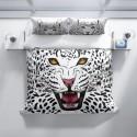 Спален комплект 3D от памучен сатен LEOPARD
