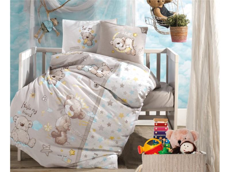 Бебешко спално бельо от памук LITTLE BEAR