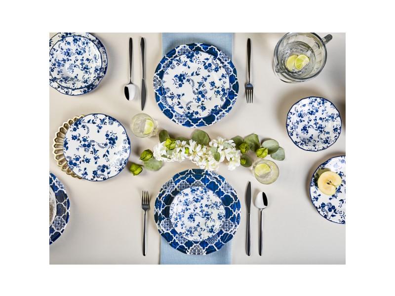 Сервиз за хранене 24 части керамика DEEP BLUE
