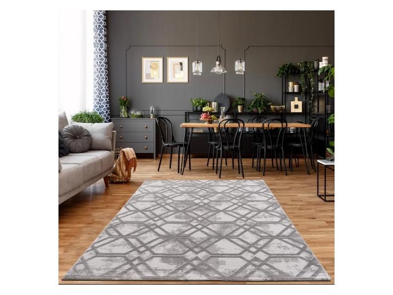 Модерен килим 150 х 230 см. STELLA сив