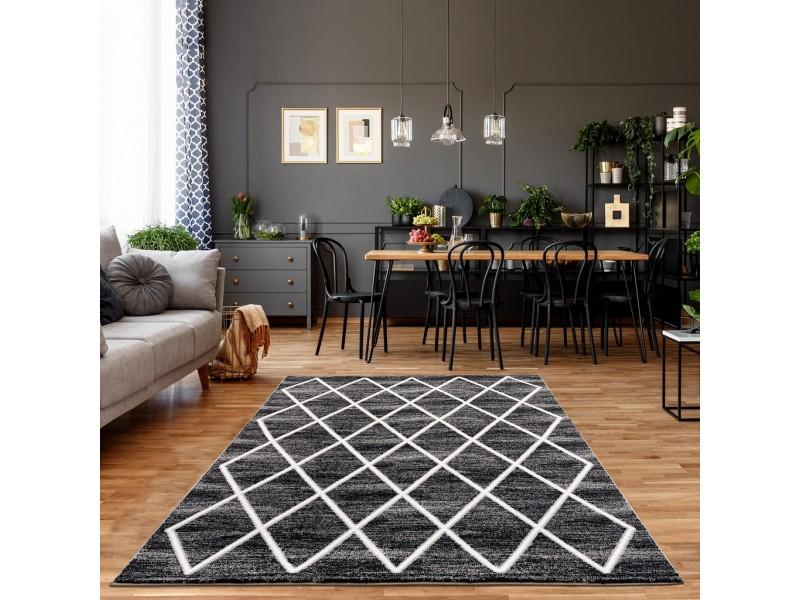 Модерен килим 150 х 230 см. STELLA lux сиво бяло