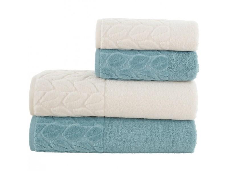2 бр. хавлиени кърпи за лице 50 х 90 см. 2 бр. хавлиени кърпи за баня 90х150 см.