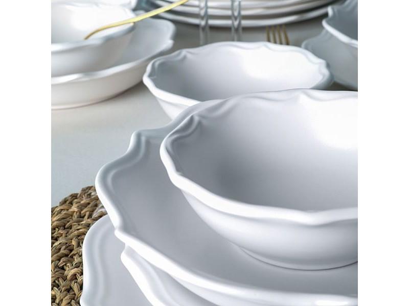 Сервиз керамика 24 части - VINTAGE БЯЛ