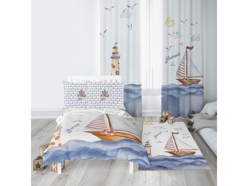 Пердета за детска стая и килим , комплект ЛИСИЦА
