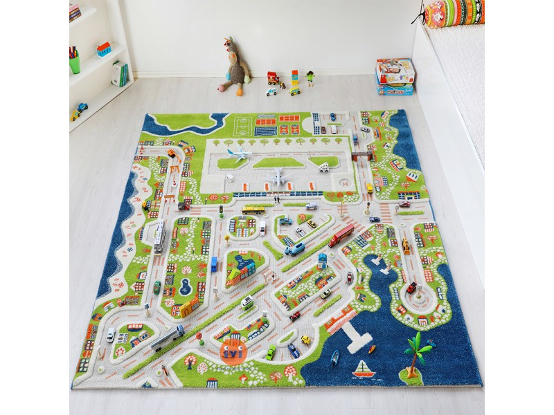 Детски килим за игри IVI - 200x200 см.MINI CITY