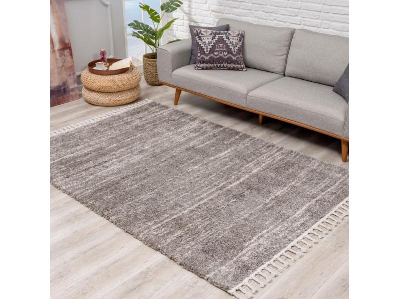 Модерен килим 160 х 230 см. Scandinavian shaggi сиво -кремав оттенък