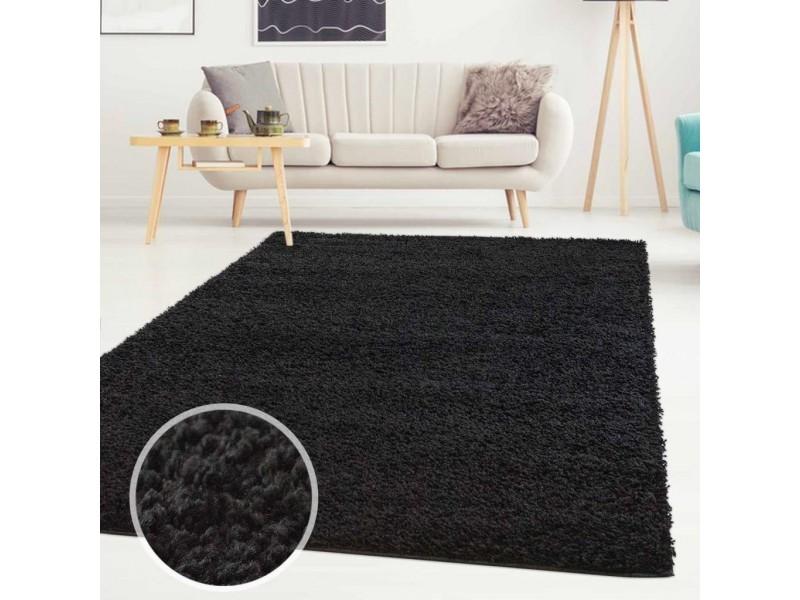 Модерен килим 160 х 230 см. Scandinavian сив черен без ресни