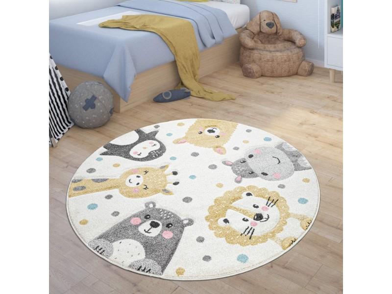Детски кръгъл релефен килим ⌀ 200 см. Zoo Animals