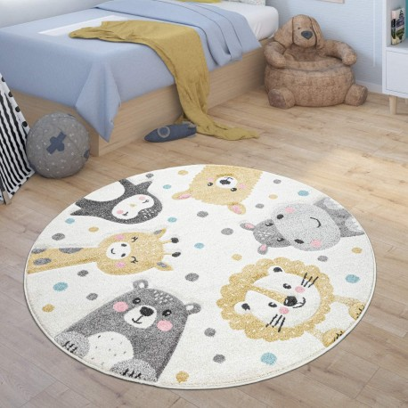 Детски кръгъл релефен килим ⌀ 160 см. Zoo Animals