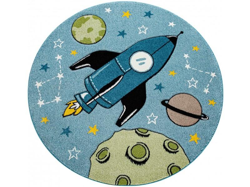 Детски кръгъл релефен килим ⌀ 200 см. Space