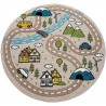 Детски кръгъл релефен килим ⌀ 200 см.Street бежов