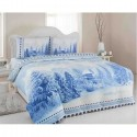 Двоен спален комплект от поплин BLUE WINTER