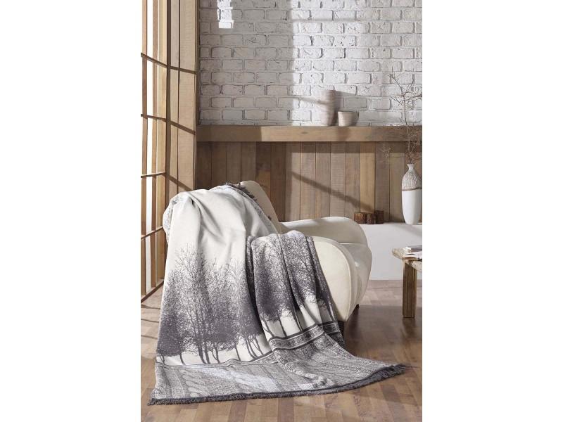 Памучно ДВОЙНО одеяло BELMONT сиво бяло