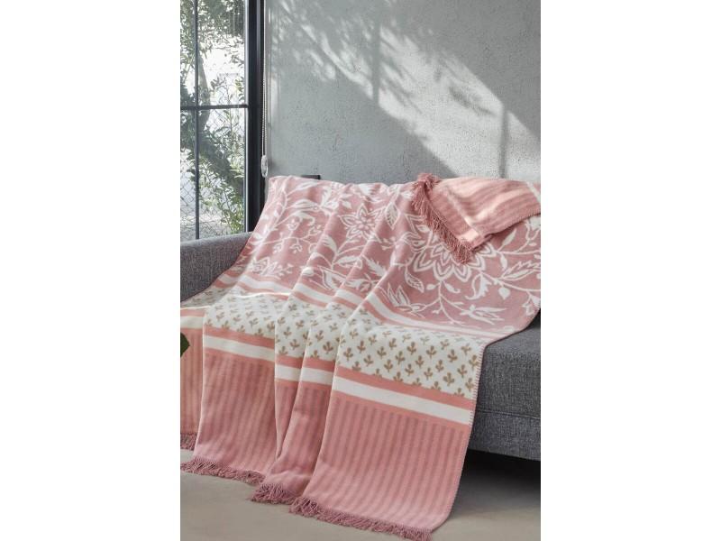 Памучно ДВОЙНО одеяло LILY розова гама