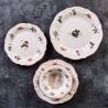 Сервиз за хранене от керамика 24 части Jam червен кант