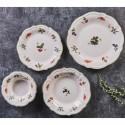 Сервиз за хранене от керамика 24 части Jam зелен кант
