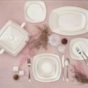 Сервиз за хранене порцелан FINE PEARL 60 части PLATIN