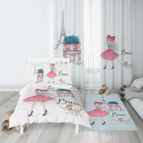 Комплект за детска стая РАЗХОДКА В ПАРИЖ