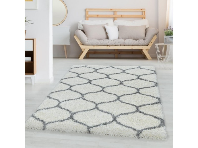 Шаги килим Winter 160х230 см. сив детайл