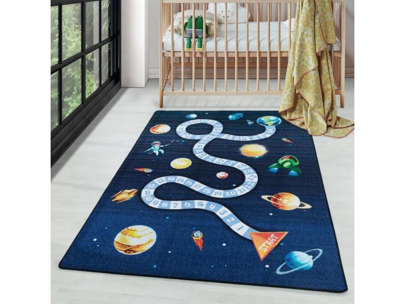 Детски мокетен килим за игри - 160х230 см. КОСМОС