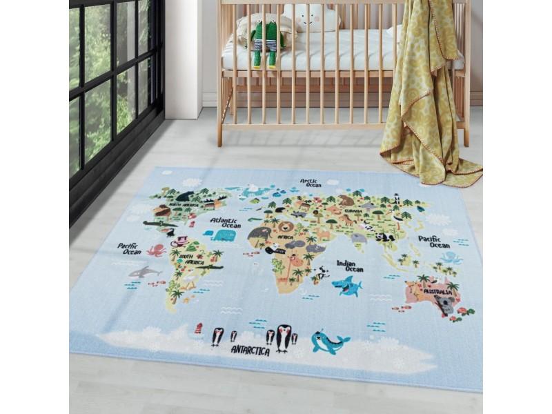 Детски мокетен килим за игри - 160х230 см. КОНТИНЕНТИ