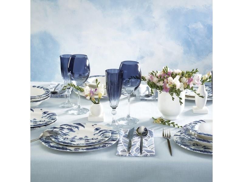 Сервиз за хранене керамика 24 части SERENA синя гама
