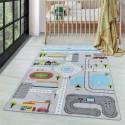 Детски мокетен килим за игри - 160х230 см. УЛИЦИ сив