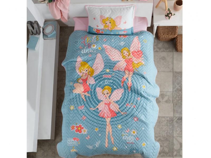 Покривало за детско легло с калъфка Power Girl