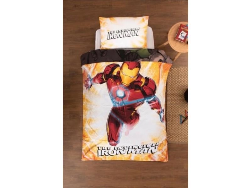 Детски двулицев спален комплект Ironman - Hulk