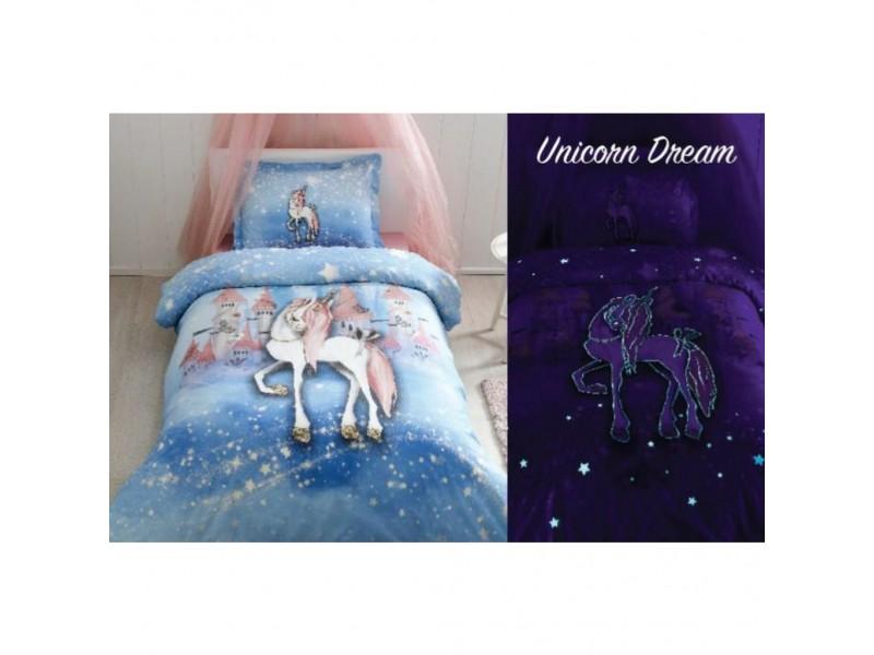 Детски фосфорициращ спален комплект Unicorn Dream