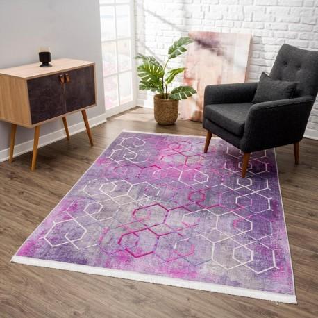 Релефен килим 160 х 230 см. Vinosa лилаво сиво