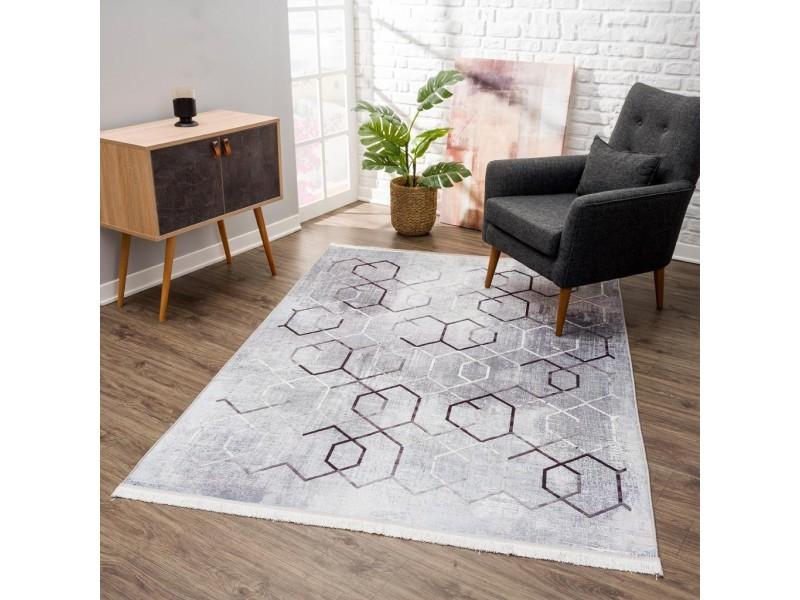 Релефен килим 160 х 230 см. Vinosa сиво