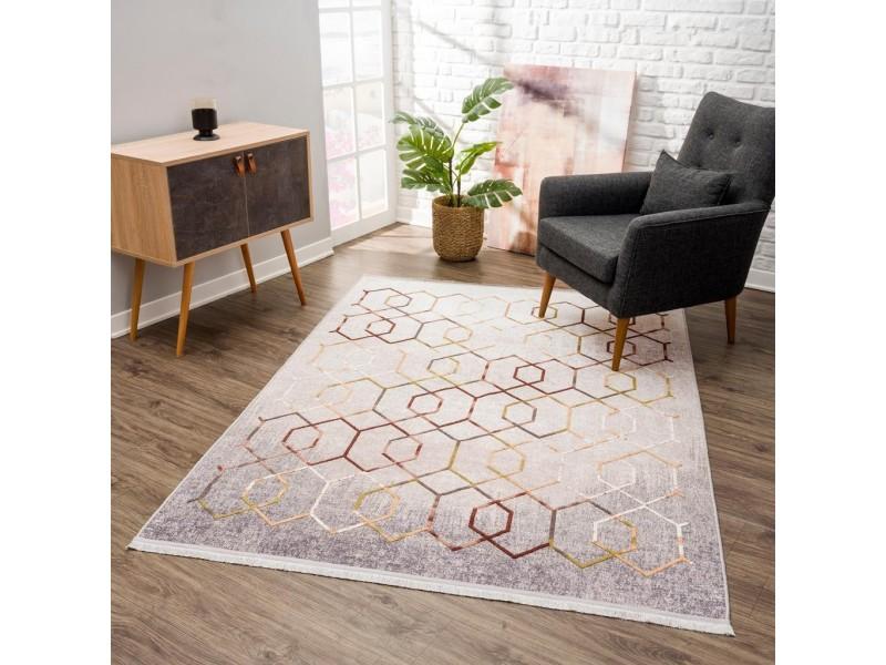 Релефен килим 160 х 230 см. Vinosa бежово и сиво