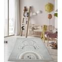 Килим за детска стая 160х230 см. ДЪГИЧКИ сива гама