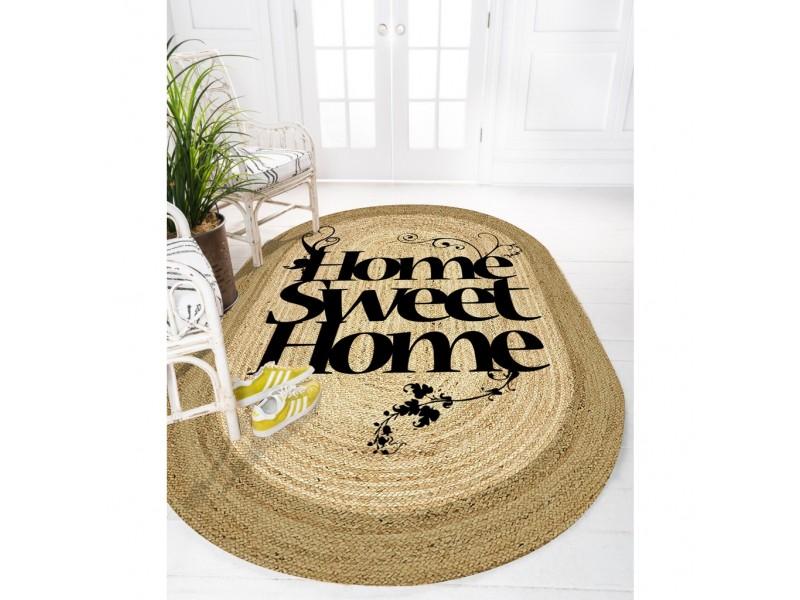 Юта килим с 3D принт , елипса 120х180см. HOME