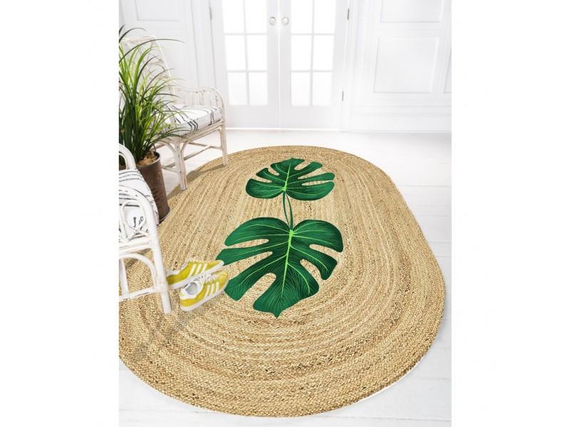 Юта килим с 3D принт , елипса 120х180см. LEAF