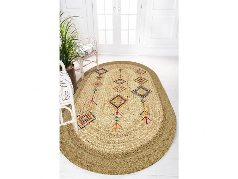 Юта килим с 3D принт , елипса 120х180см. ЕТНО