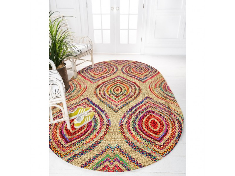 Юта килим с 3D принт , елипса 120х180см. BOHO STYLE