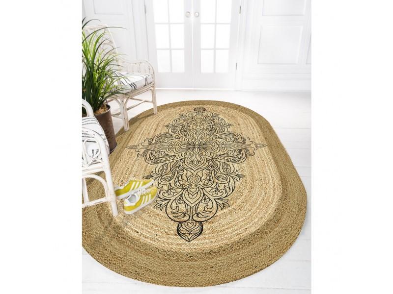 Юта килим с 3D принт , елипса 120х180см. MANDALA