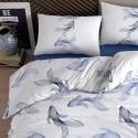 Двоен спален комплект от ранфорс blue