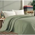 Покривало за легло ПИКЕ 160х260 см. от памук - ЗЕЛЕНО