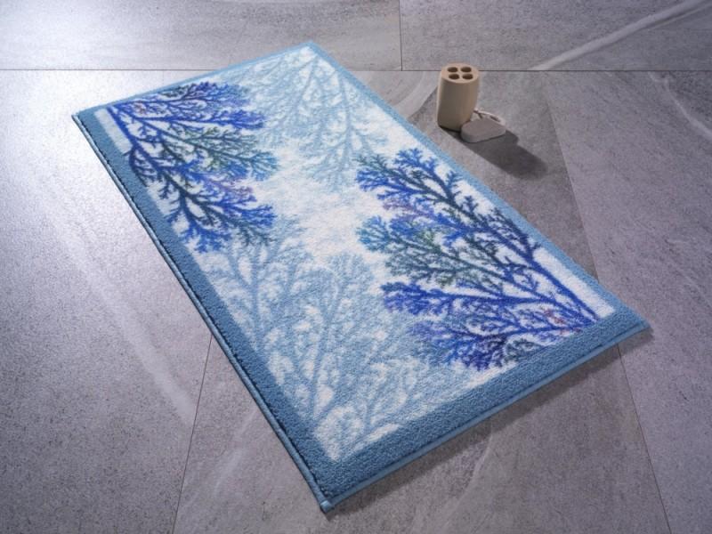 Килим за баня 57х100 см. CORAL синьо