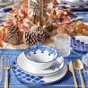 Сервиз керамика за 12 човека IKRAT бяло синьо